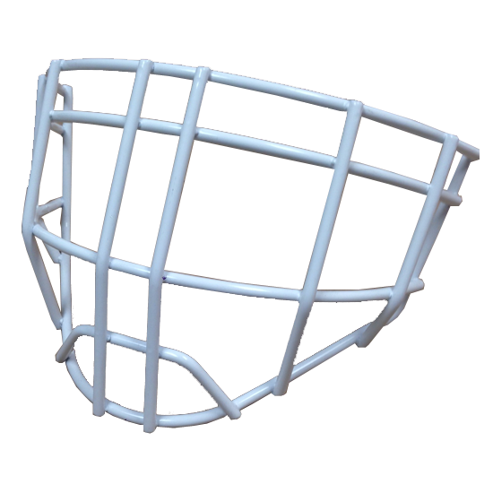 hackva cheater goalie cage white